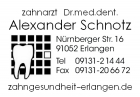 Portrait Dr. Alexander Schnotz, Erlangen, Zahnarzt