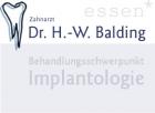 Logo Zahnarzt : Dr. Hans-Werner Balding, , , Essen
