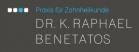 Logo Zahnarzt : Dr. K. Raphael Benetatos, Praxis für Zahnheilkunde, Spezialiserung auf Aesthetischen Zahnersatz, Implantologie und Behandlung von Patienten mit Zahnarztangst, Unterföhring